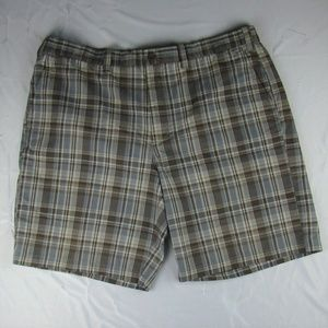 Eddie Bauer Shorts Plaid Cotton Mens Size 40